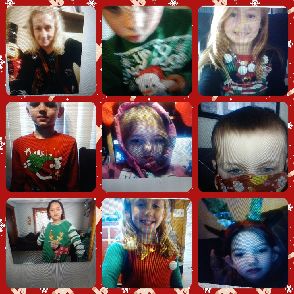 Ugly sweater or mask day!