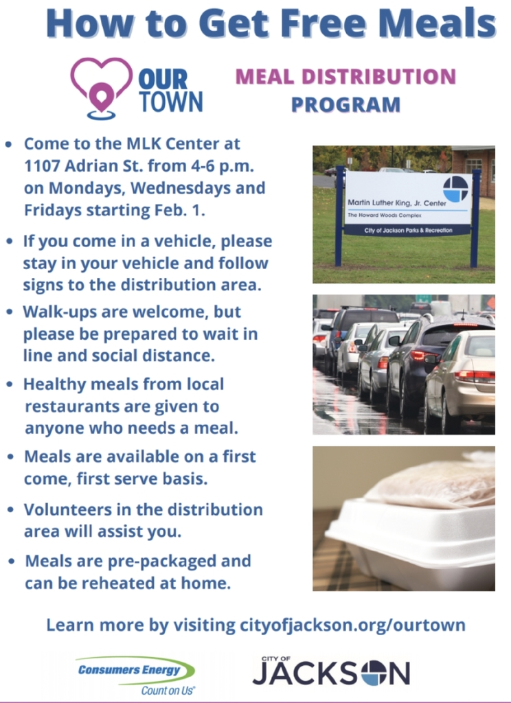 our meal distribution flyer