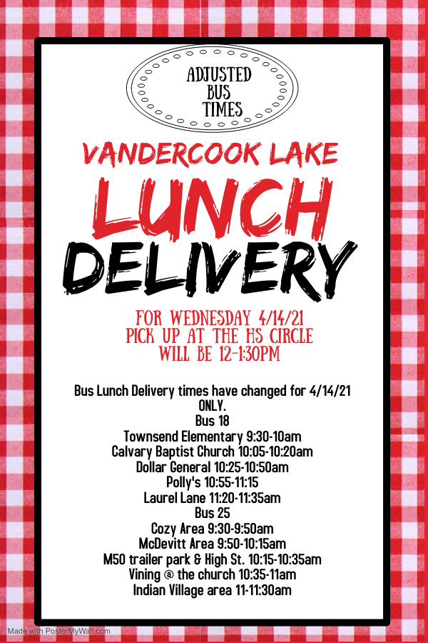 lunch delivery time change