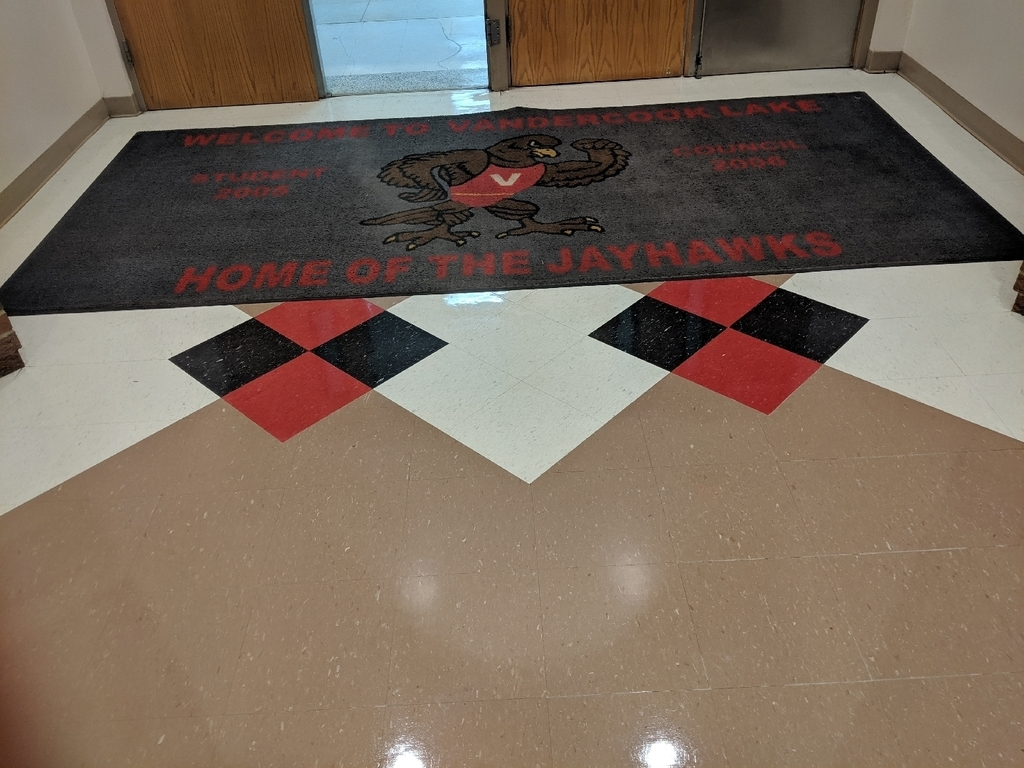 HS main lobby welcome rug.