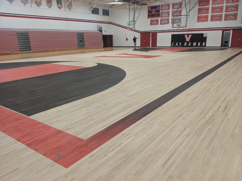 Stained gym floor
