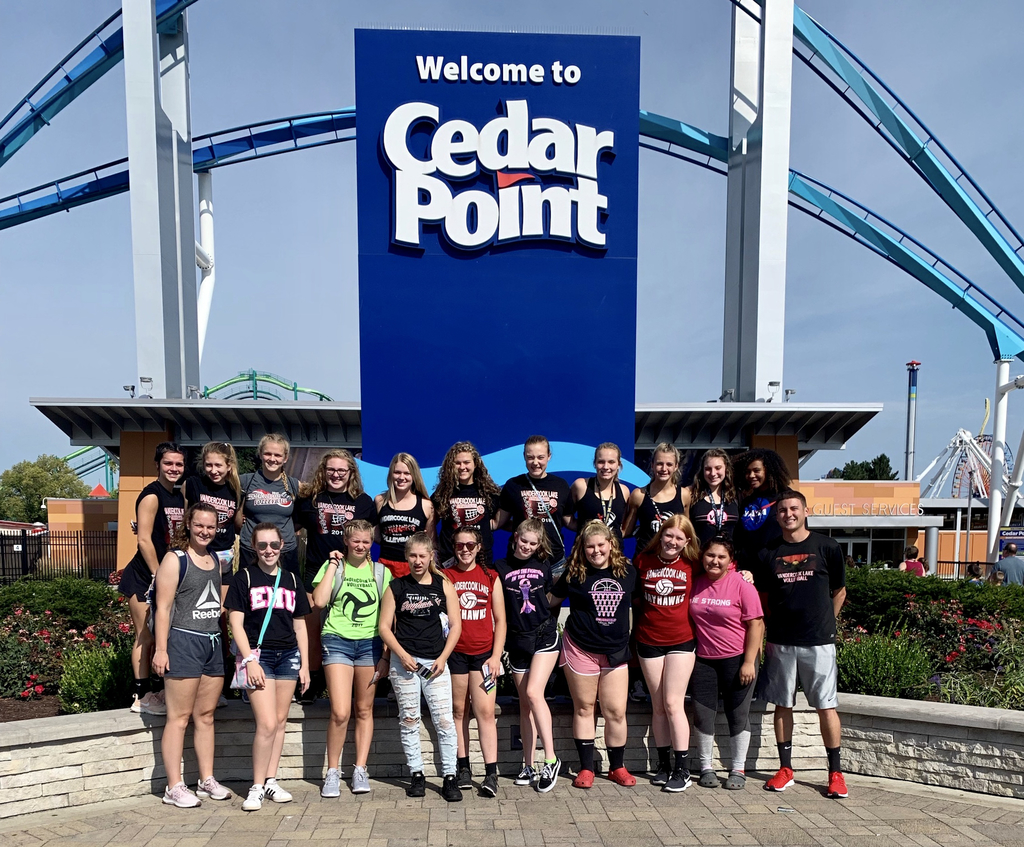 Volleyball Team at Cedar Point