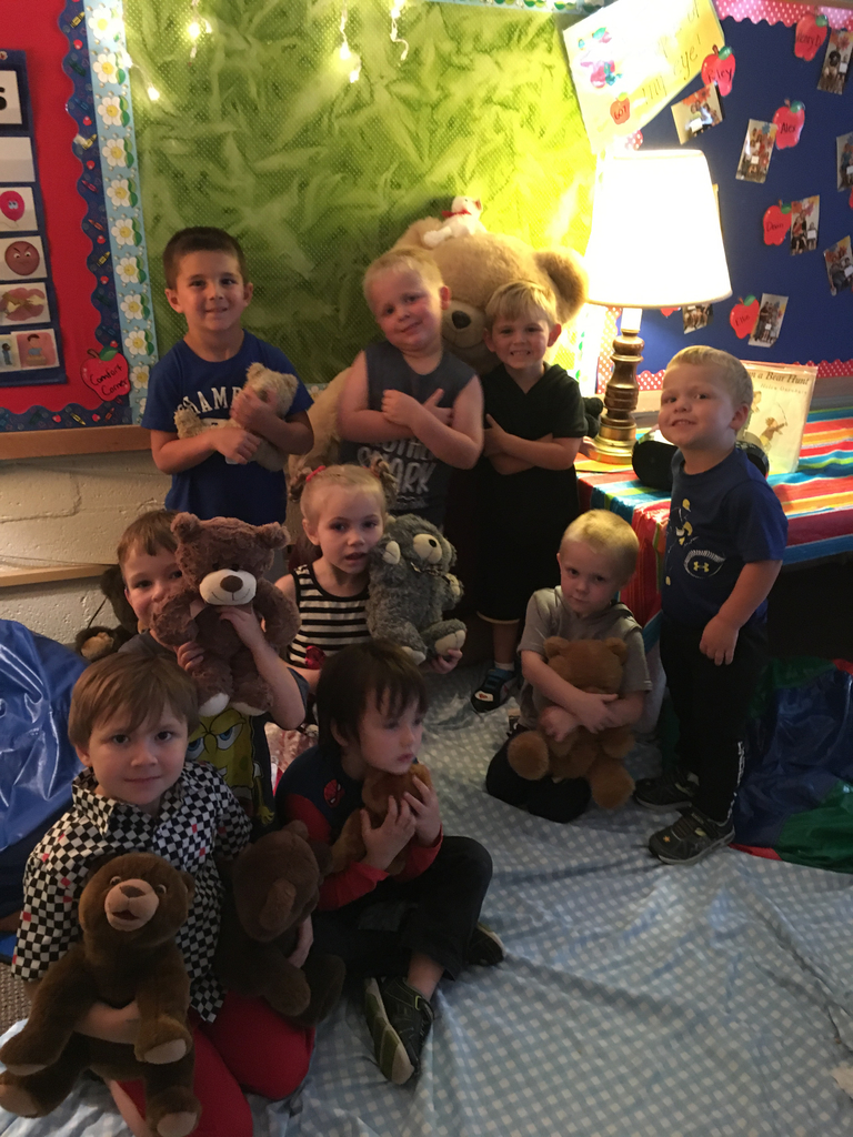 Hugging on bears at school is the best!!