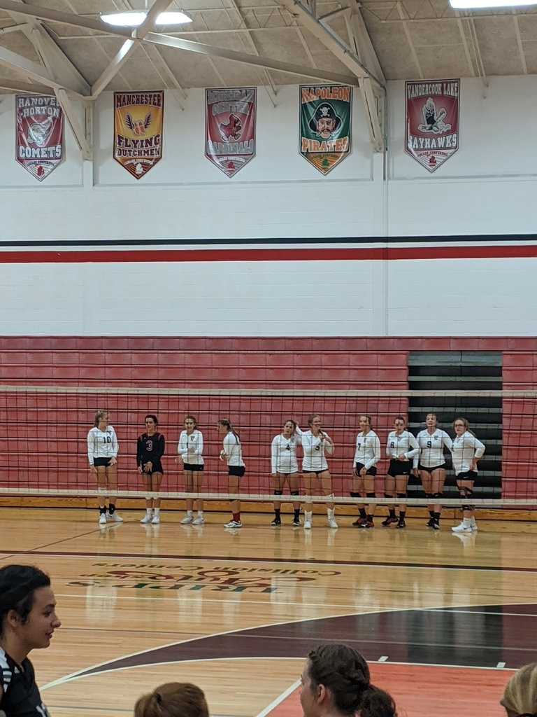 volleyball ready for match with Hudson