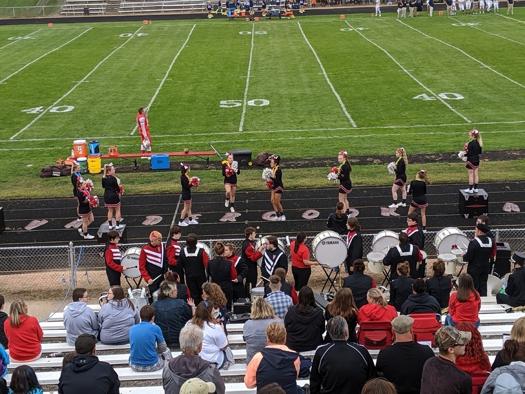 cheer and band