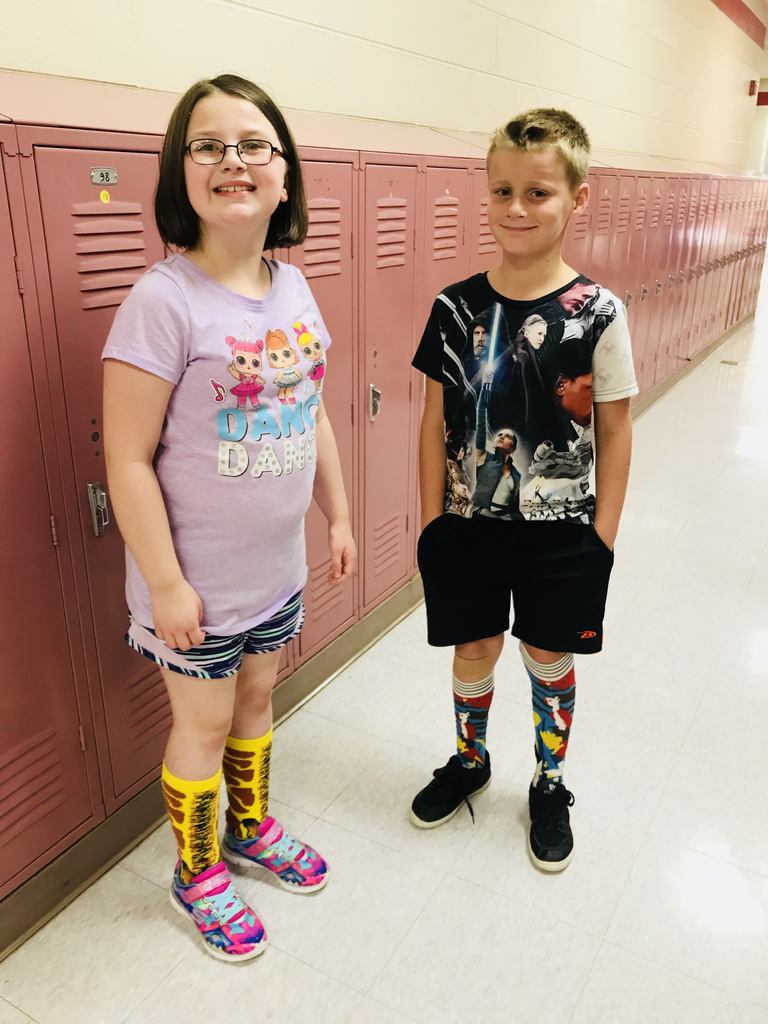 Third graders in on the crazy sock action!