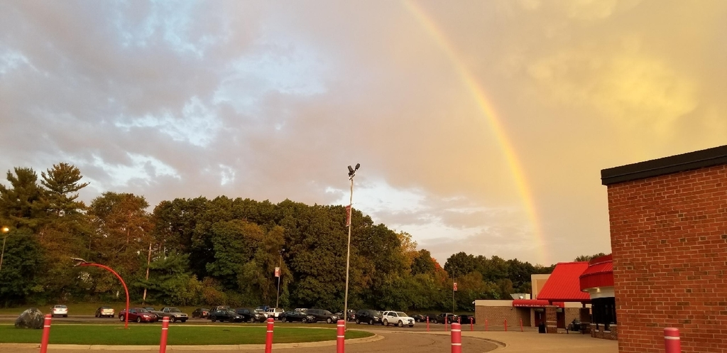 Rainbow over Vandy High!