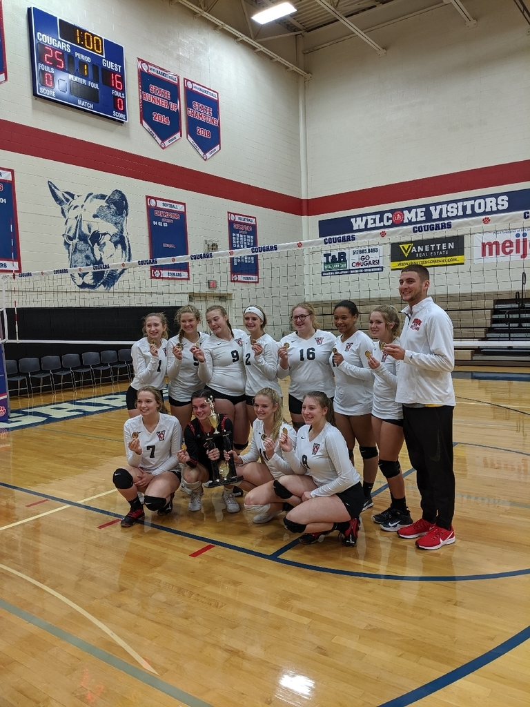 Varsity Volleyball takes first place at Lenawee Christian Invite