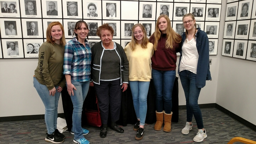 Survivor Clara Garbon-Radnoti with students