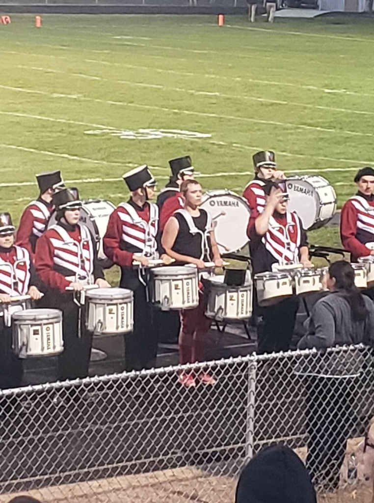 our AMAZING drumline