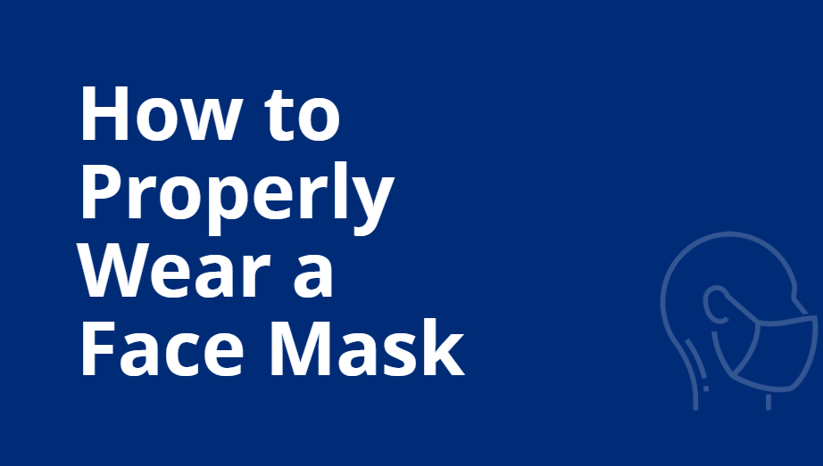 How to wear mask 1